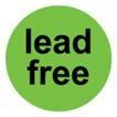 """Samolepící etikety """"lead free"""""""