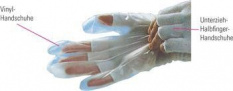 ESD Vinilové jednorázové rukavice