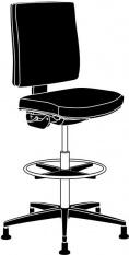 ESD Otočná židle LINEA standard II.