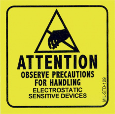 Samolepící etikety - Výstraha