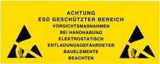 Varovné štítky pro ESD pracoviště a EPA