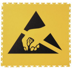 ESD Podlahová krytina - puzzle Ecotile s ESD logem