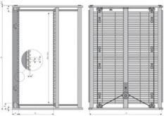 ESD PCB Magazín série 601.1 PS - částečně smontovaný