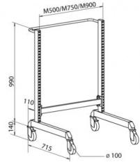 ESD Multi-vozík 2 - stojan