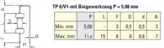 Doplňující ohýbací nástroj P = 5.08 mm